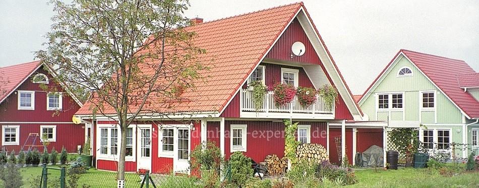 Schwedenhaussiedlung in der Nähe von Dresden