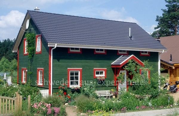 Schwedenhaus grün  Haus Eva - Schwedenhaus