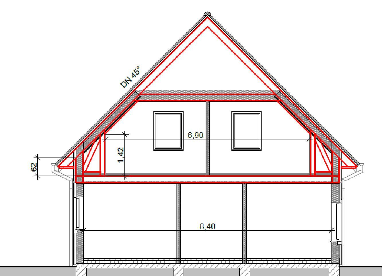 7 3 dach schwedenhaus. Black Bedroom Furniture Sets. Home Design Ideas