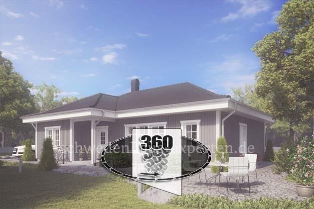 Schwedenhaus in 360 Grad Ansicht
