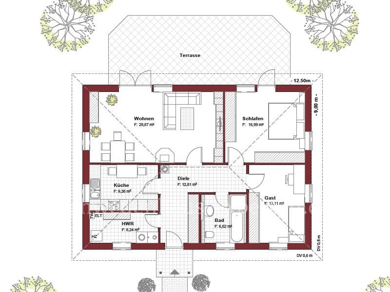 Schwedenhaus bungalow grundriss  Bungalow 90 - Schwedenhaus