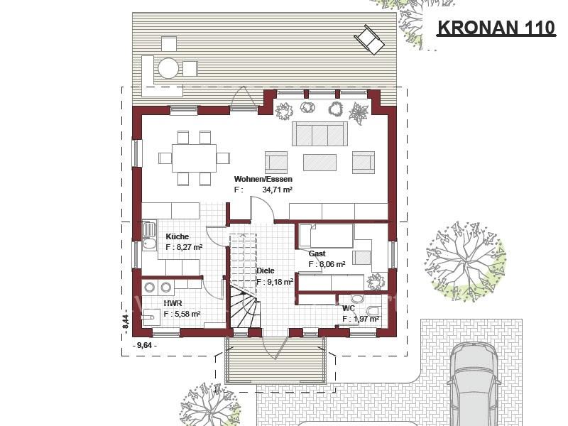 Schwedenhaus grundriss  Kronan - Schwedenhaus